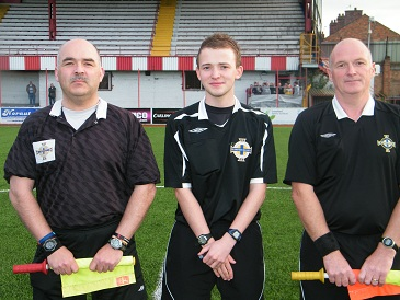 Evening Officials Lawerence Wallace, Keith Kennedy & Adrian Leckey