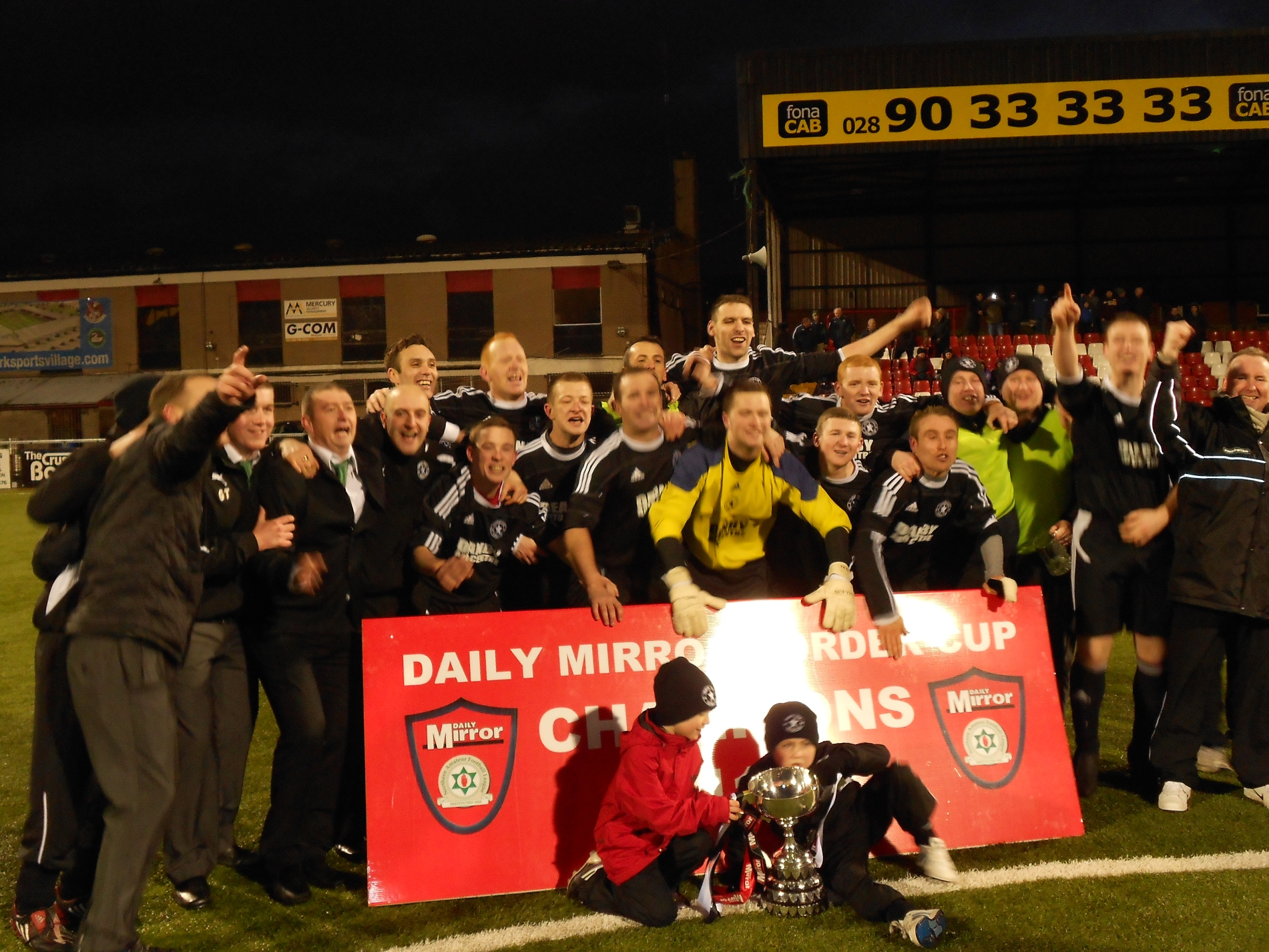 Daily Mirror's 2011 Border Cup Champions Crumlin Star