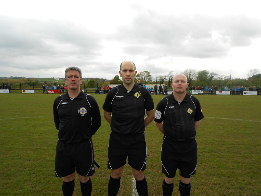 Match Officials Steven Gregg,Mark McCurdy, Danny McCann