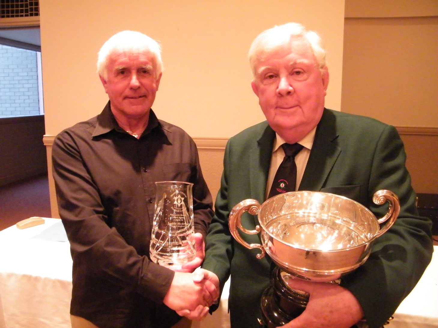 Merit Award  <p>for Comber Rec long time secretary Jackie McArthur presented by league president Dr. Ernie Logan</p>