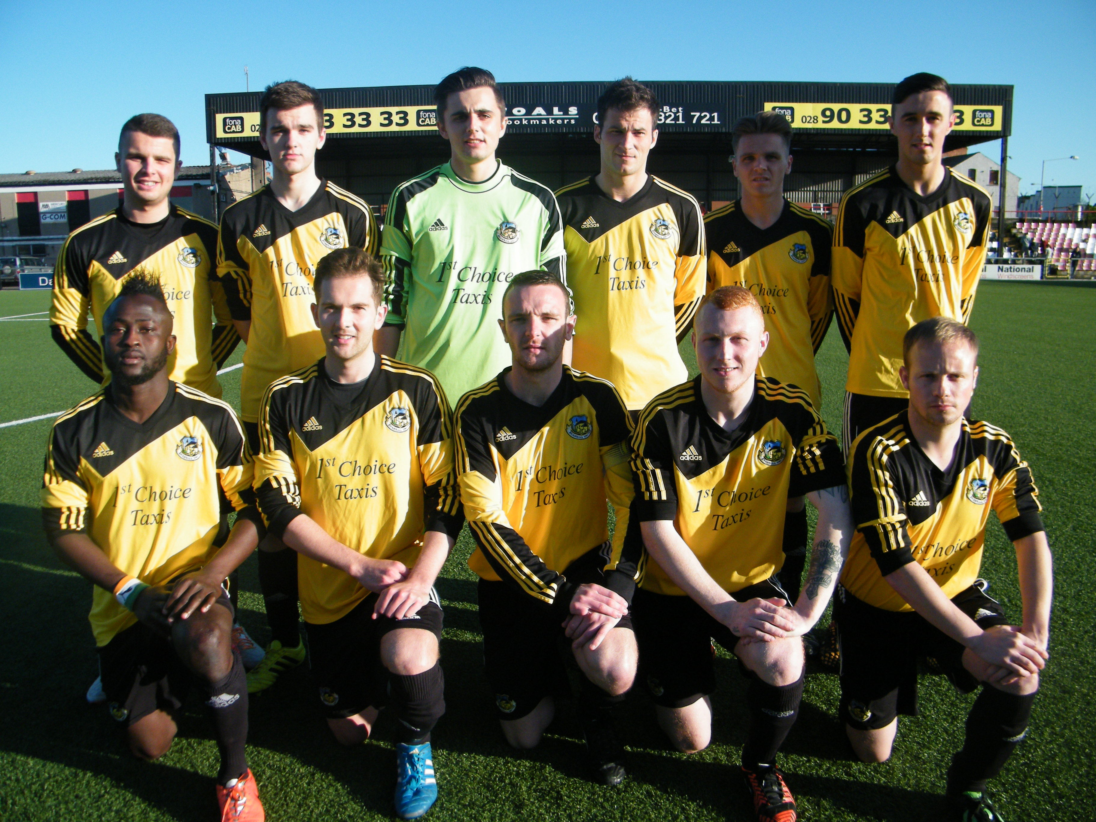 The defeated Shankill Utd team